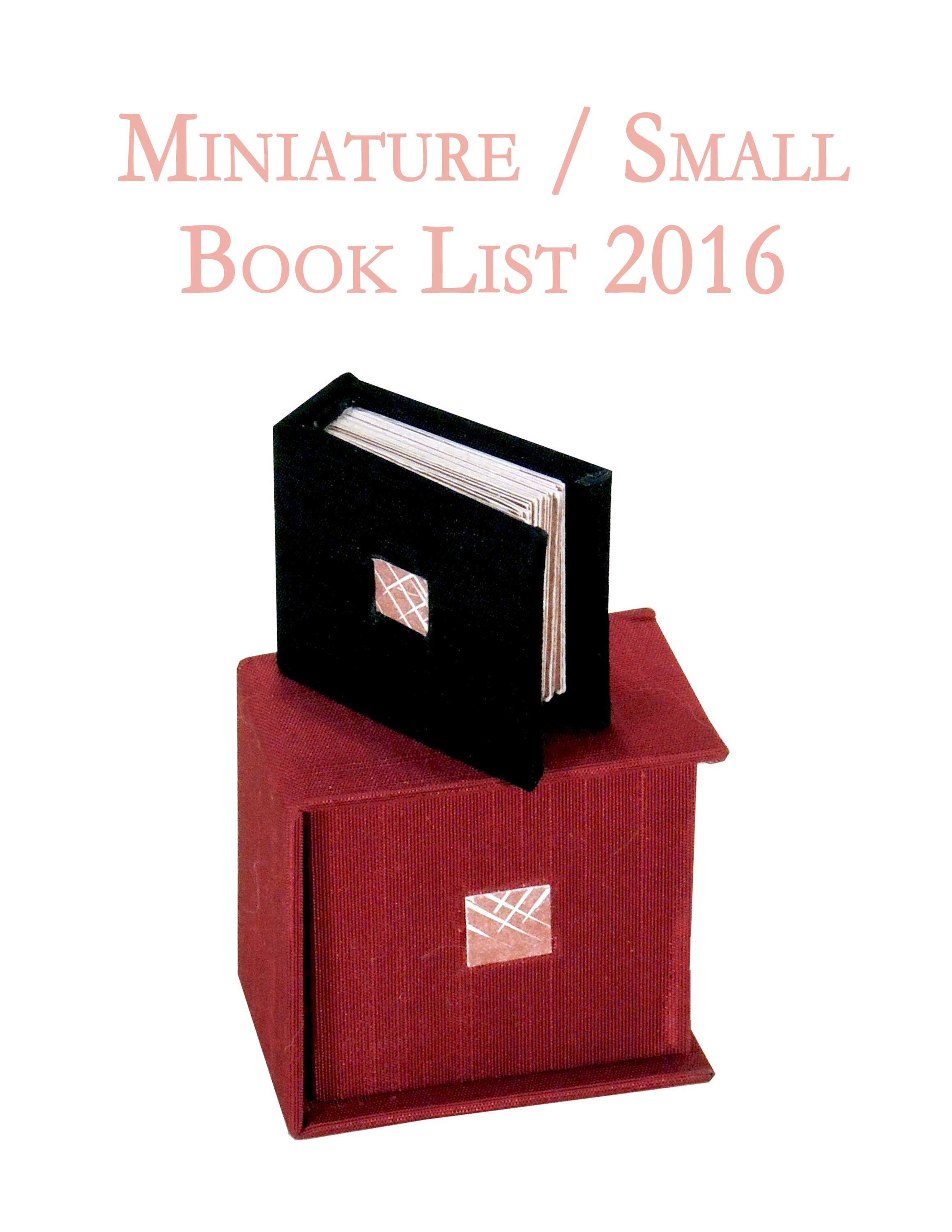 Miniature Book List 2016