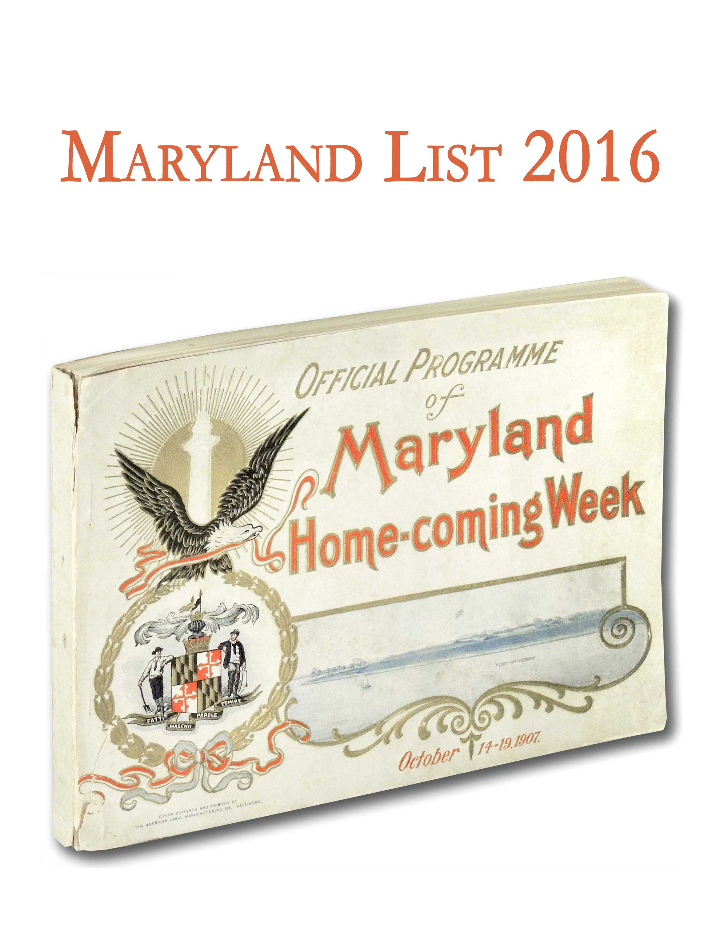 Maryland List 2016