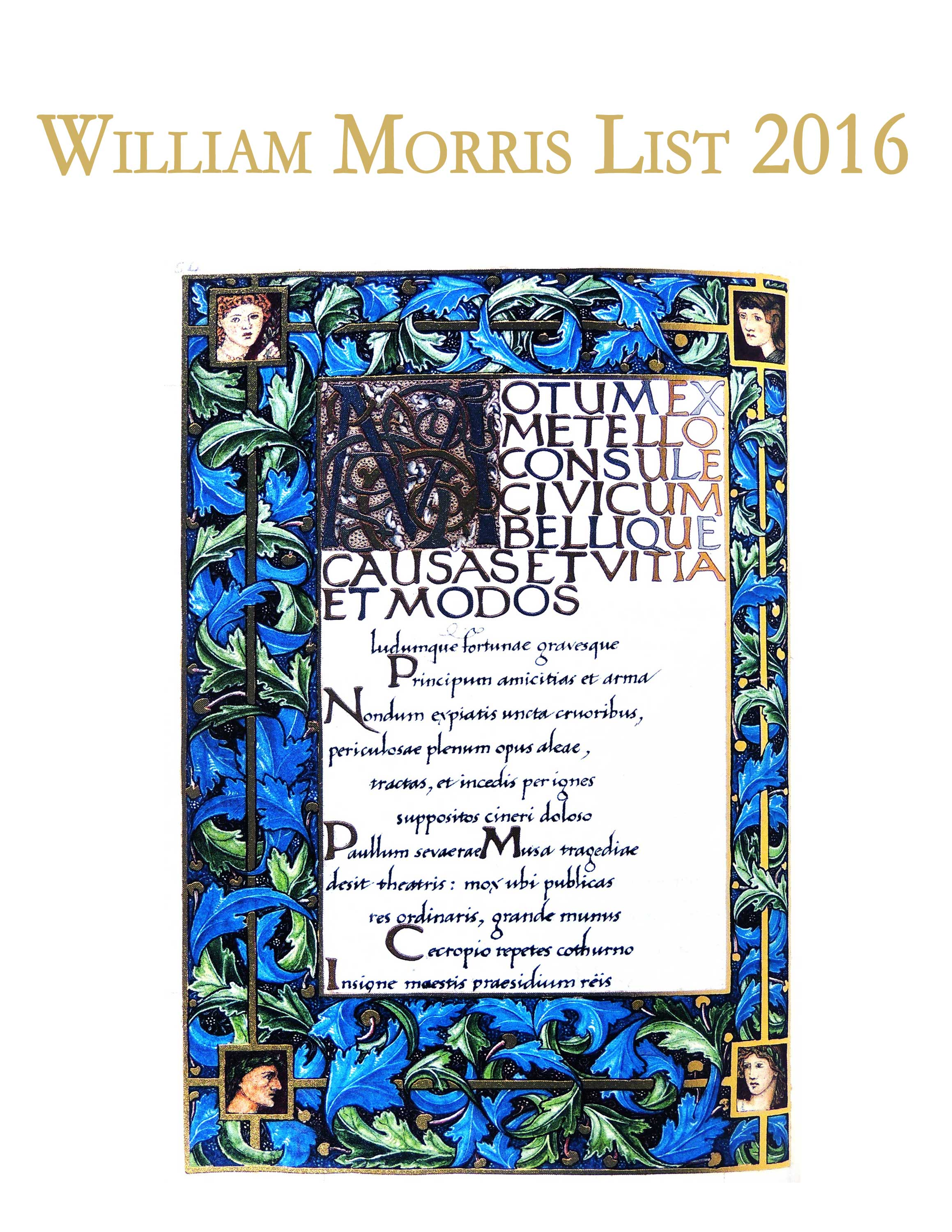 William Morris List 2016