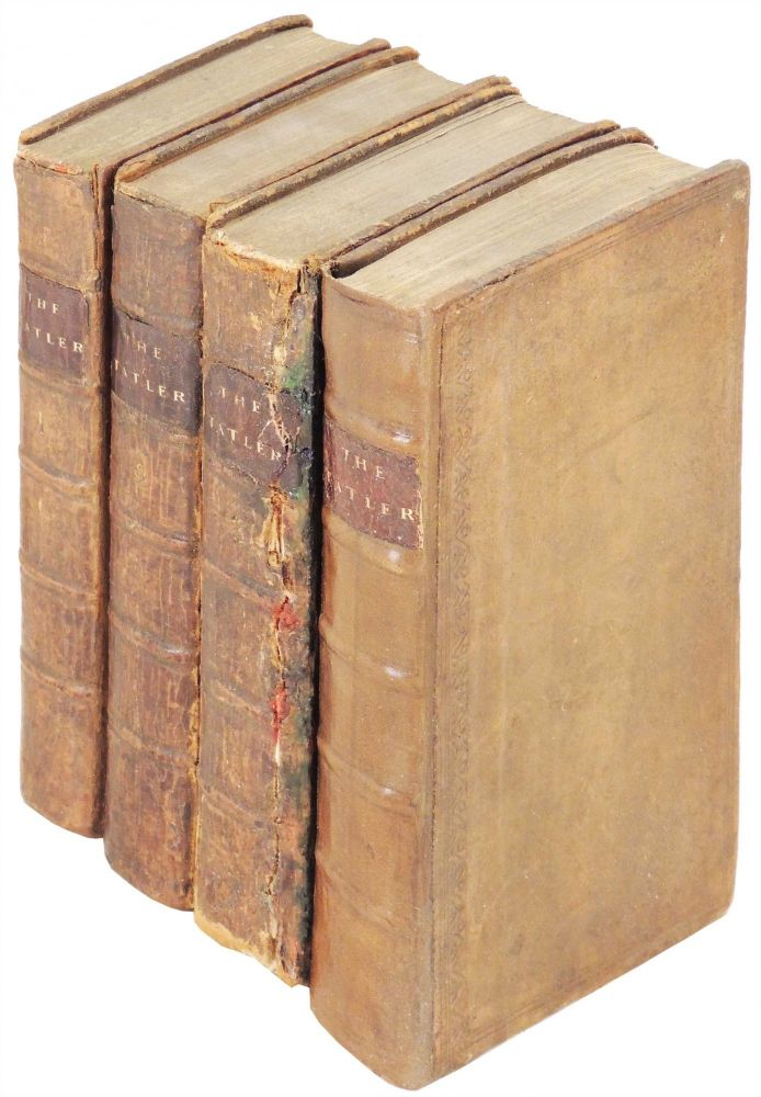 The Tatler. The Lucubrations of Isaac Bickerstaff, Esq. (4 volumes). Joseph Addison, Richard Steele.