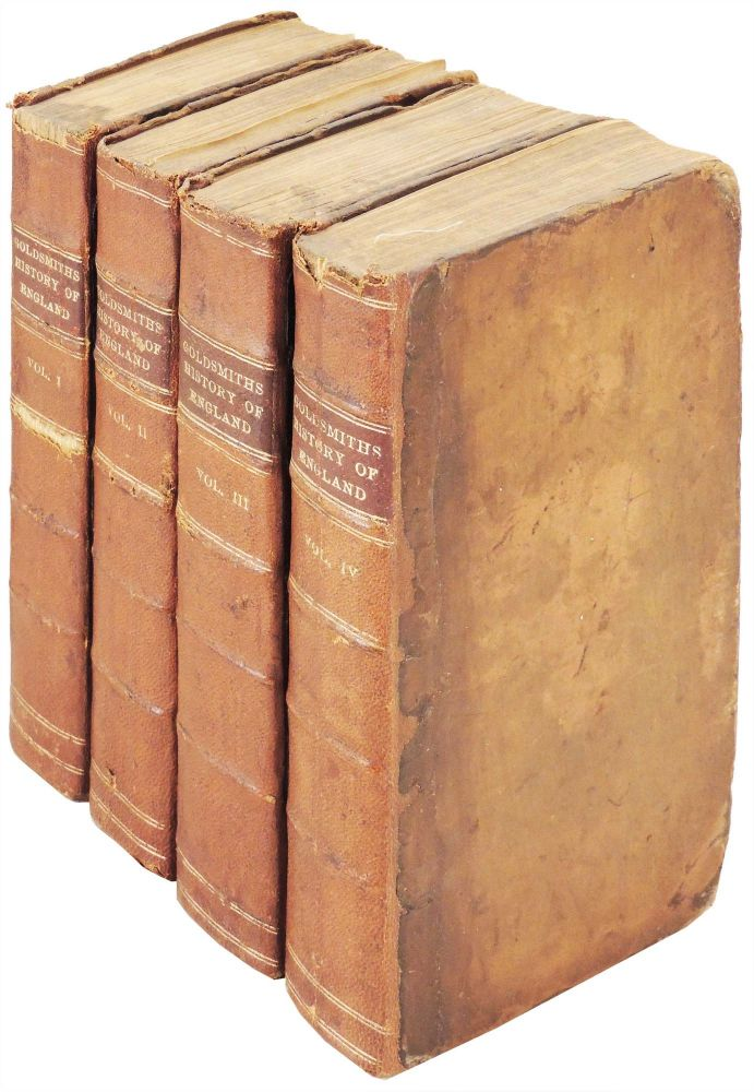 The History of England, from the Earliest Times to the Death of George II. Four volume set. Oliver Goldsmith.