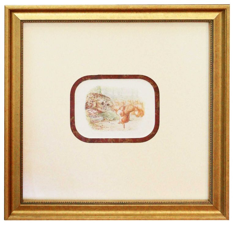 Leaf from Beatrice Potter's Squirrel Nutkin. Frederick Warne.