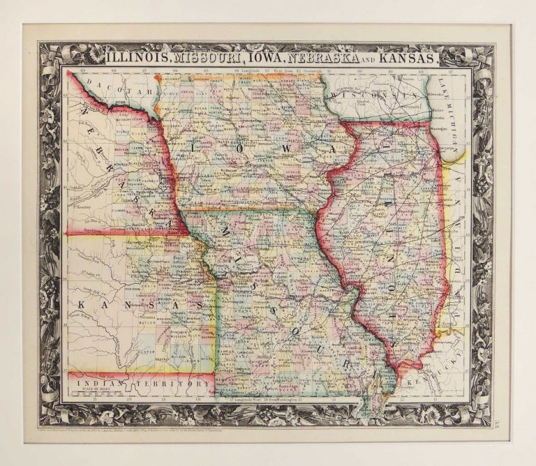 Map of Illinois Missouri Iowa Nebraska and Kansas Samuel