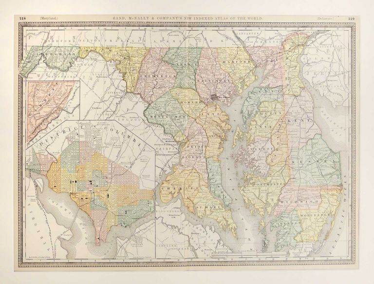 Map of Delaware, Maryland and Washington, DC by Unknown on The Kelmscott  Bookshop