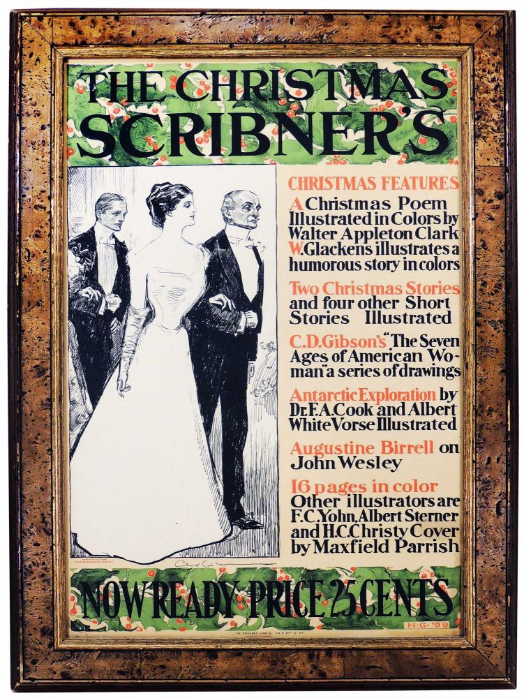 The Christmas Scribner's [Original Advertising Poster]. Scribner's.