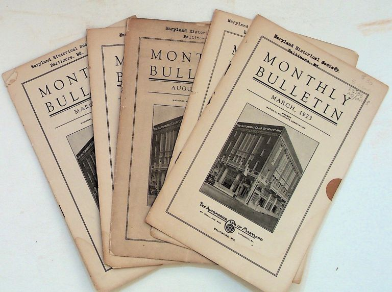 Monthly Bulletin. Collection of 5 issues from 1923 and 1924. Automobile Club of Maryland.