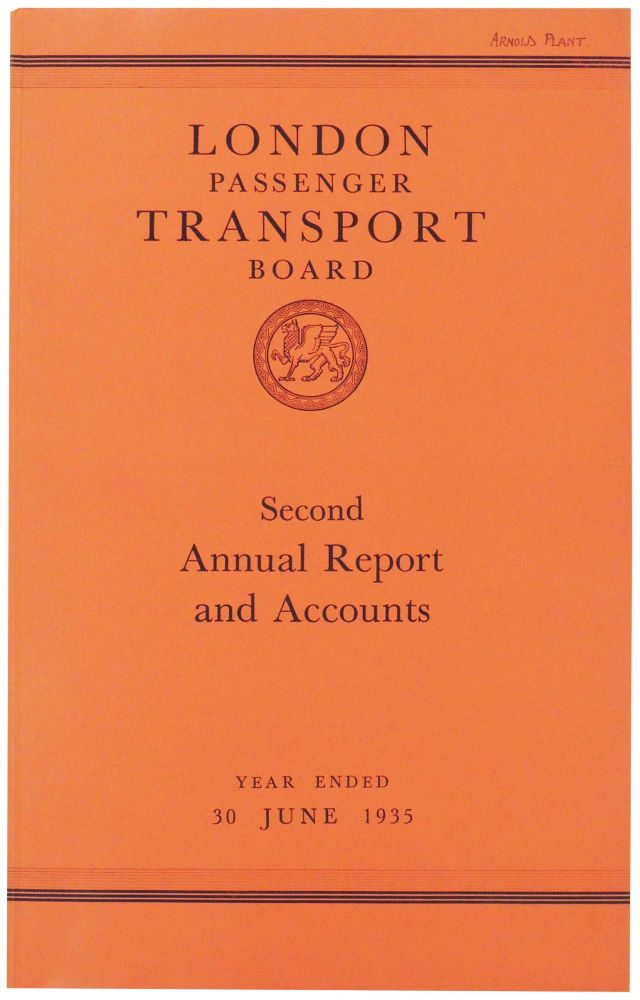 London Passenger Transport Board. Second Annual Report and Statement of Accounts and Statistics for the Year Ended 30 June 1935. London Passenger Transport Board.