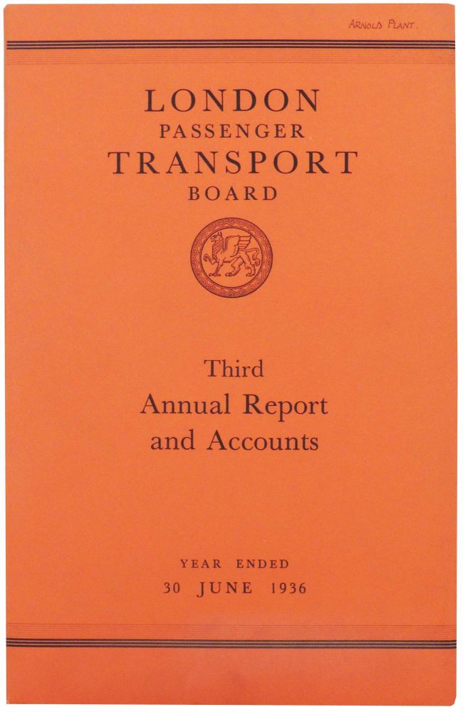 London Passenger Transport Board. Third Annual Report and Statement of Accounts and Statistics for the Year Ended 30 June 1936. London Passenger Transport Board.