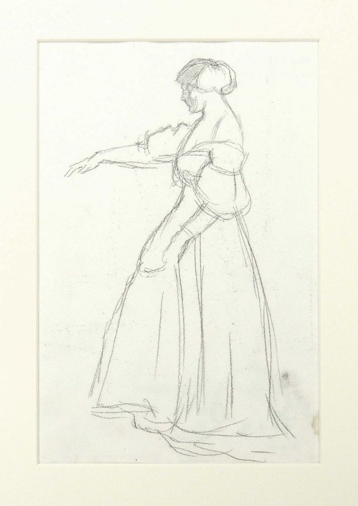 Alice Rothenstein. Original pencil drawing. William Rothenstein.