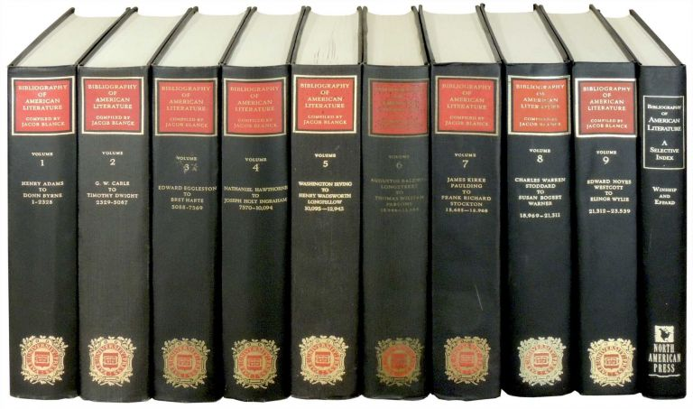 Bibliography of American Literature 10 Volumes. Jacob Blanck, Michael Winship.