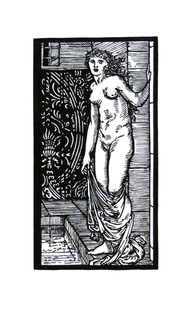 The Story of Cupid and Psyche: Psyche at the Bath. PRINT. William Morris, Edward Burne-Jones.