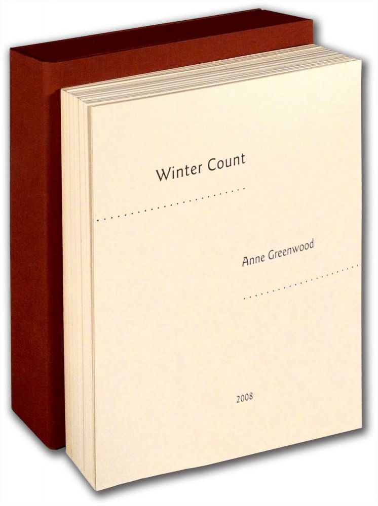 Winter Count. Anne Greenwood.