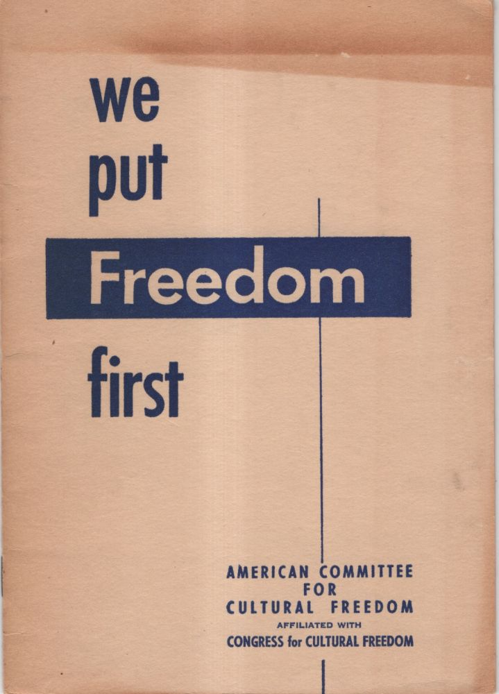 We Put Freedom First. Irving Brown.