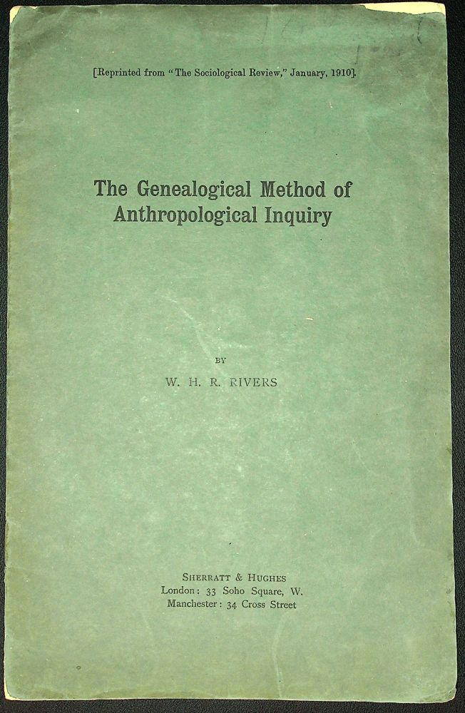 The Genealogical Method of Anthropological Inquiry. W. H. R. Rivers.