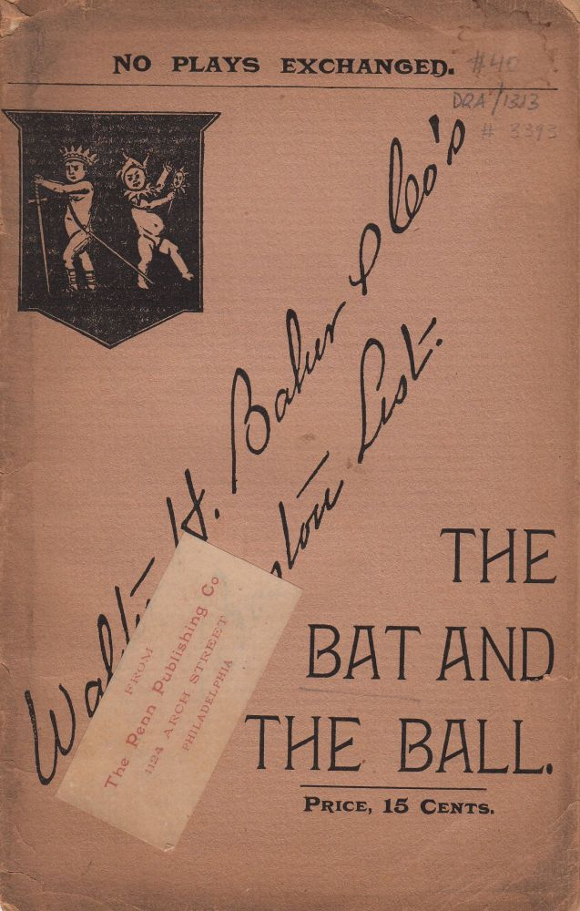 The Bat and The Ball or Negative Evidence. A Farce in One Act. by the author of A. Ready Made Suit.
