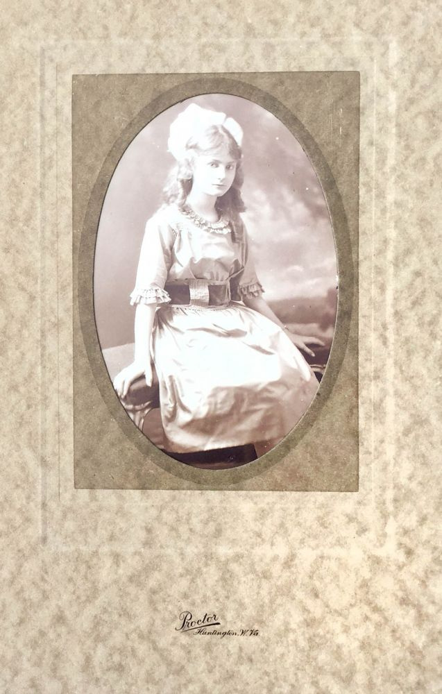Original photograph of a young lady