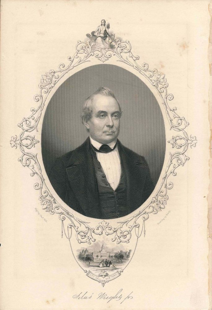 Engraved Portrait of Silas Wright Jr. (print)