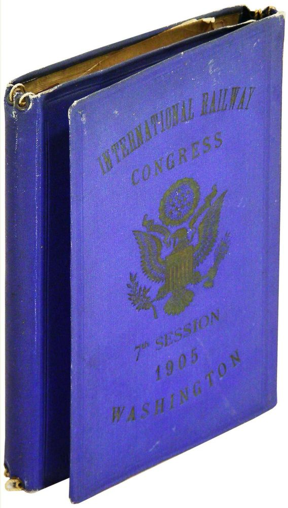 International Railway Congress. 7th Meeting. Washington, May, 1905. Aide-Memoire. Unknown.