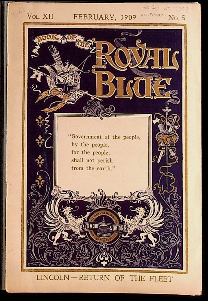 Book of the Royal Blue Vol. XII. February, 1909. No. 5. Unknown.