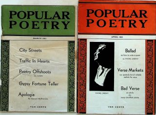 Popular Poetry (2 ISSUES