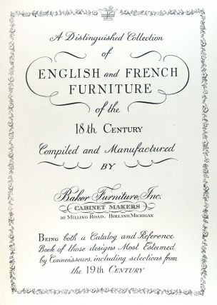English and French Furniture of the Eighteenth (18th) Century