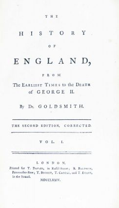 The History of England, from the Earliest Times to the Death of George II. Four volume set.