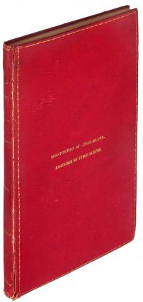 The Constitution of the State of Rhode Island and Providence Plantations, as Adopted by the...