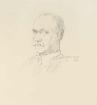 Portrait of Sir Frank Short (lithograph). William Rothenstein.