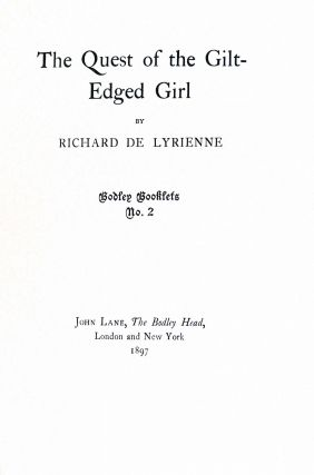 The Quest of the Gilt-edged Girl