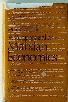 A Reappraisal of Marxian Economics. Murray Wolfson