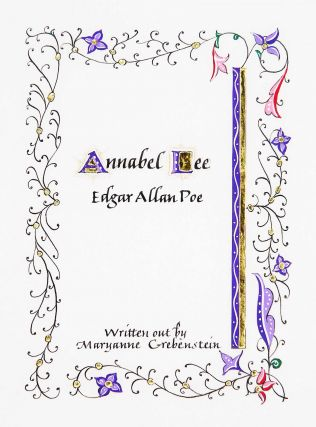 Annabel Lee. book artist, calligrapher, Maryanne Grebenstein, Edgar Allan Poe