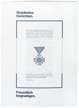 Merciless Execution. Friendly Pardon. or Gnadenlos hinrichten. Freundlich begnadigen. Romano...