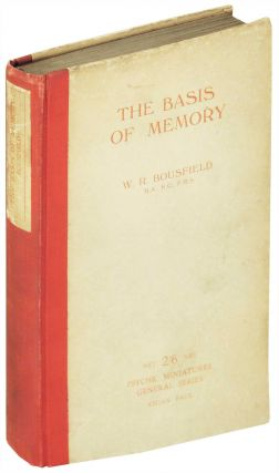 The Basis of Memory. Psyche Miniatures. W. R. Bousfield.