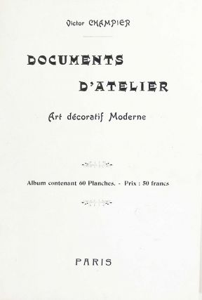 Documents d'Atelier. Art Decoratif Moderne