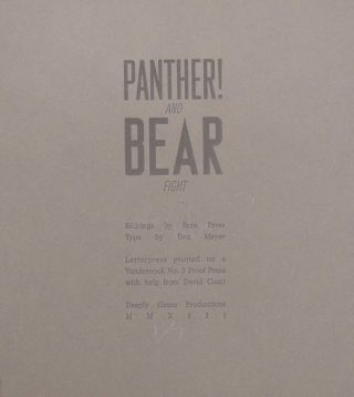 Panther! and Bear Fight