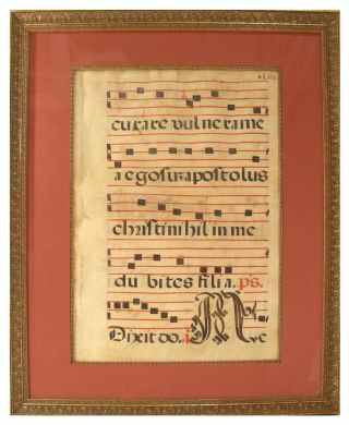 Leaf from Medieval Antiphonal. Unknown