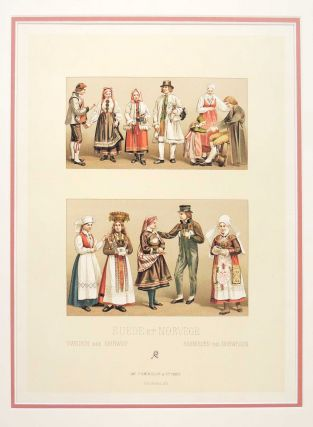 Leaf from Le Costume Historique. Charles Auguste Albert Racinet