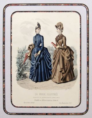 Girardin Fashion Plate from La Monde Illustree. Sulpice Guillaume Chevalier