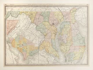 Map of Delaware, Maryland and Washington, DC. Unknown