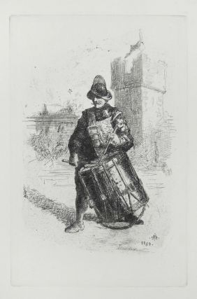 "Etching of ""The Drummer"" M. J. Artist Lawless"