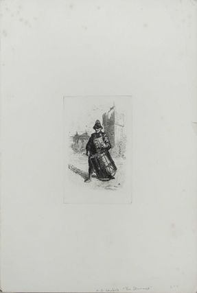 "Etching of ""The Drummer"""