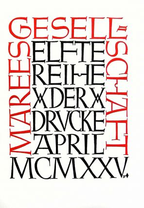 The Typography of an Artist: Emil Rudolf Weiss. A Monograph