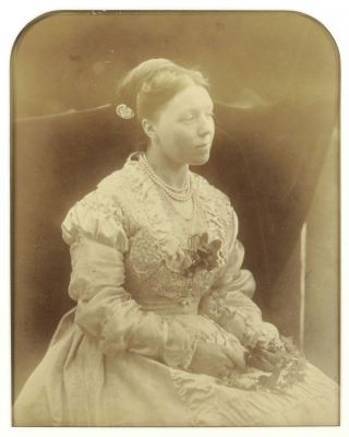 Albumen Photograph of Anne Thackeray. Julia Margaret Cameron