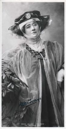 Signed Photographic Postcard featuring Ellen Terry. Ellen Terry
