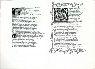 Six Kelmscott Press Leaves from The Earthly Paradise