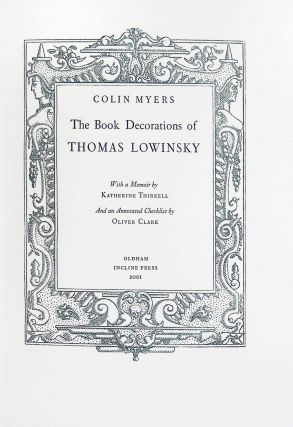 The Book Decoration of Thomas Lowinsky