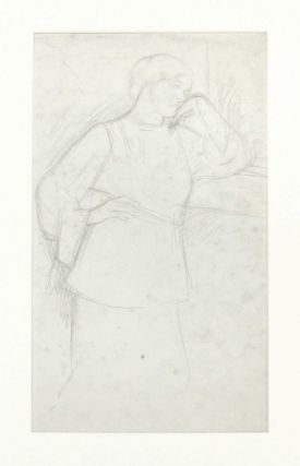 Alice Rothenstein. Original pencil drawing. William Rothenstein