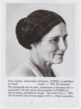 Photograph of Doris Lessing. Doris Lessing, Jill Krementz, photographer