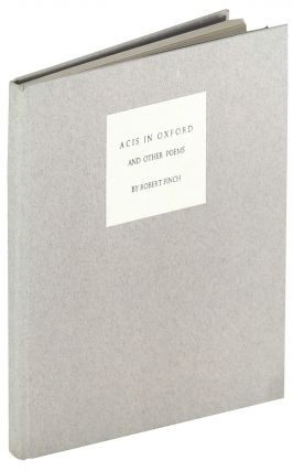 Acis in Oxford and other poems. Robert Finch