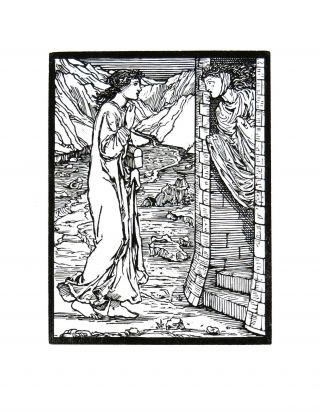 The Story of Cupid and Psyche: The Speaking Tower. PRINT. William Morris, Edward Burne-Jones